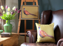 Load image into Gallery viewer, Pheasant Cushion.