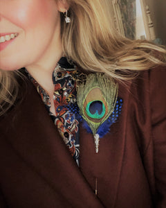 Peacock feather Lapel Pin