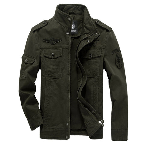 Cotton Military Jacket Men 2018 Autumn Soldier  MA-1 Style Army Jackets Male Brand Slothing Mens Bomber Jackets Plus Size M-6XL