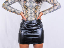 Load image into Gallery viewer, Zippy Faux Leather Skirt