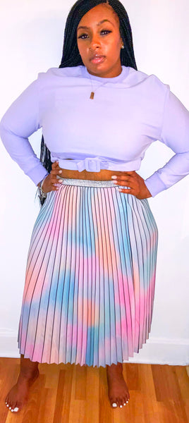 Colors Pleated Skirt