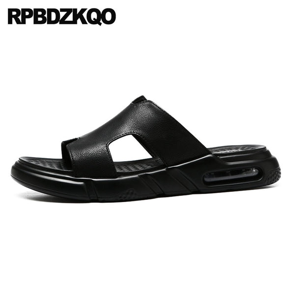 8f39296f493157 Flat Shoes Open Toe Beach Slip On Slippers Black Famous Brand Designer  Casual Outdoor Men Sandals