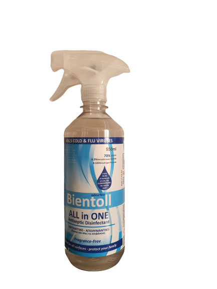 Bientoll All in One Antiseptic Disinfectant for Surfaces - Fragrance Free 550ml