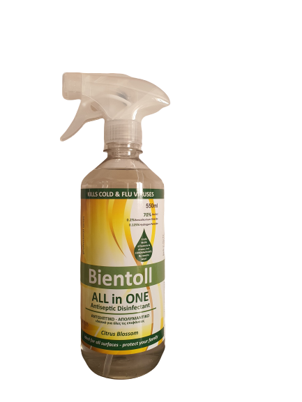 Bientoll All in One Antiseptic Disinfectant for Surfaces - Citrus Blossom 550ml