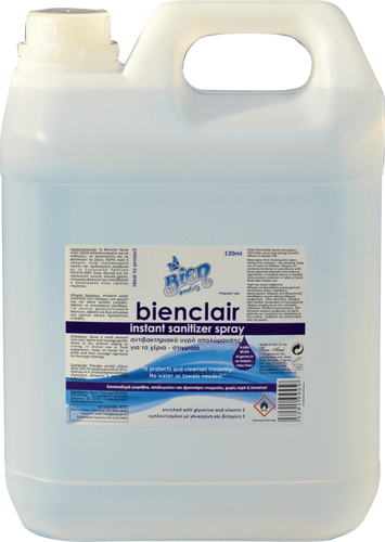 Bienclair Instant Sanitizer Spray 70% Alcohol (Ethanol) | 4L