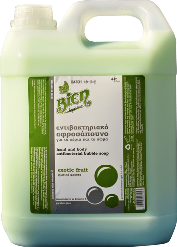 Hand & Body Antibacterial Bubble Soap | Exotic Fruit 4L