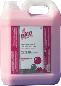 Hand & Body Antibacterial Bubble Soap | Rose Mallow 4L