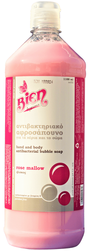 Hand & Body Antibacterial Bubble Soap | Rose Mallow 1.1L