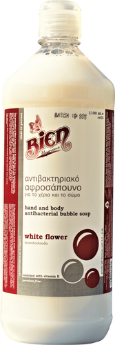 Hand & Body Antibacterial Bubble Soap | White Flower 1.1L