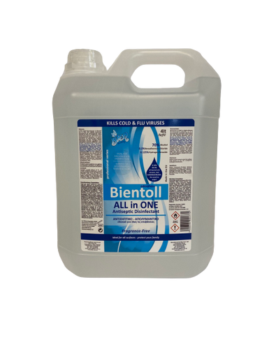 Bientoll All in One Antiseptic Disinfectant for Surfaces - Fragrance Free 4LT