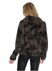 Dylan Heather Pile Camo Jacket