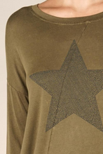 Load image into Gallery viewer, Lovestitch Star Vintage Wash Tee