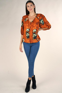 Lovestitch Volume Sleeve Button Up Blouse
