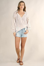 Load image into Gallery viewer, Lovestitch Metallic Stripe Blouse