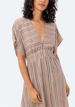 Load image into Gallery viewer, Lovestitch Striped Tie Back Dress