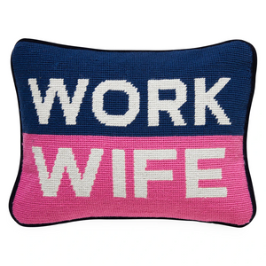 Jonathan Adler Work Wife Needlepoint Pillow