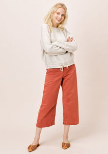 Lovestitch Drawstring Waist Jogger and Sweater Oatmeal