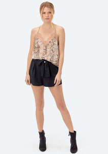Lovestitch Snake Print Lace Trim Cami