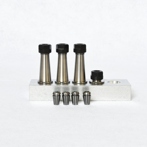 Tool Holder and Collet Multipack (Set of 4 with rack)