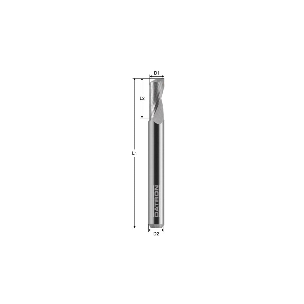 Metric DATRON Single Flute 3mm dia., 3mm shank