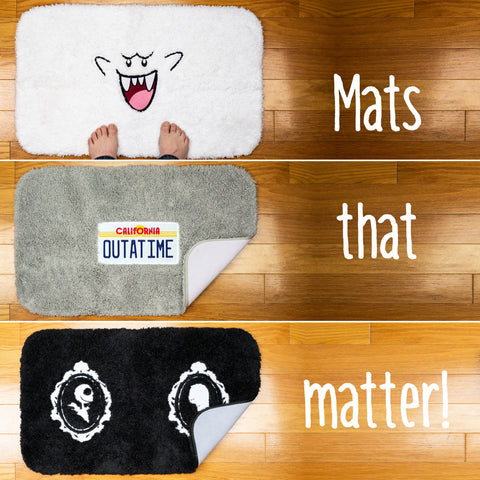 Geeky bath mats are here!