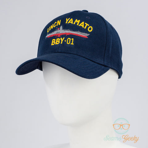 Space Battleship Yamato Hat - UNCN Yamato - Embroidered Anime Baseball Cap - Naval Hat