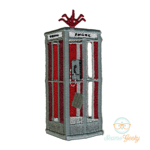 Bill & Ted Patch - Time Machine Phone Booth - Embroidered Iron on Patch
