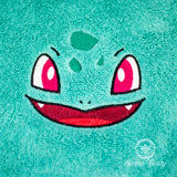 Pokemon Hand Towel - Bulbasaur - Embroidered Bathroom or Kitchen Towel