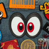 Super Mario Odyssey Patch - Cappy Eyes - Embroidered Iron on Patch