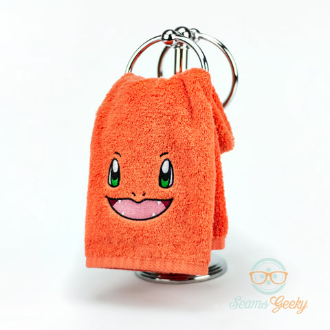 Pokemon Hand Towel - Charmander - Embroidered Bathroom or Kitchen Towel