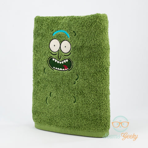 Rick and Morty Bath Towel - Pickle Rick - Embroidered Towel Decor