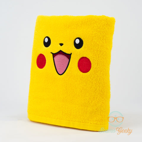 Pokemon Bath Towel - Pikachu - Embroidered Towel Decor