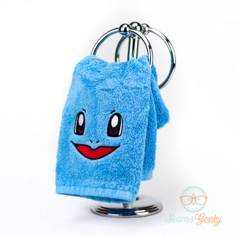 Pokemon Hand Towel - Squirtle - Embroidered Bathroom or Kitchen Towel