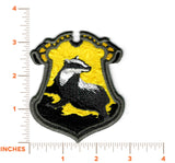 Harry Potter Patch - Hufflepuff House Crest - Embroidered Iron-on Patch or Applique