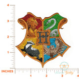 Harry Potter Patch - Hogwarts Crest - Embroidered Iron-on Patch or Applique