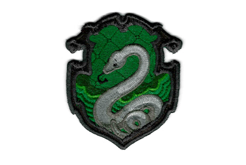 Harry Potter Patch - Slytherin House Crest - Embroidered Iron-on Patch or Applique