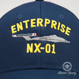 Star Trek Hat - Enterprise NX-01 - Embroidered Geeky Baseball Cap - Naval Hat Inspired