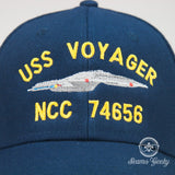 Star Trek Hat - Voyager NCC 74656  - Embroidered Sci-Fi Baseball Hat Cap - Naval Hat Inspired