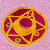 Sailor Moon Hand Towel - Compact - Embroidered Geeky Bathroom Towel or Kitchen Decor