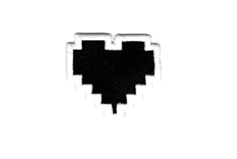 Legend of Zelda Patch - HP Health Bar Container - Empty Heart - Embroidered Video Game Iron on Patch