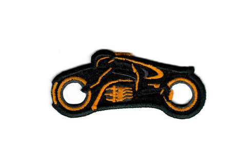 Tron Patch - Tron Legacy - Orange Light Cycle - Embroidered Sci-Fi Iron on Patch
