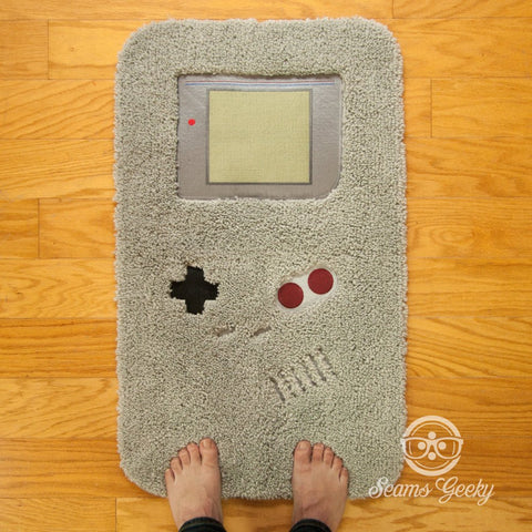 Nintendo Bath Mat or Rug - Game Boy - Embroidered Video Game Bathroom or Kitchen Decor