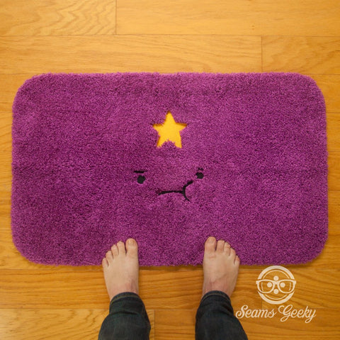 Adventure Time Bath Mat or Rug - Lumpy Space Princess (LSP) - Embroidered Mat
