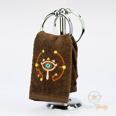 Legend of Zelda Hand Towel - Breath of the Wild - Sheikah Slate - Embroidered Towel