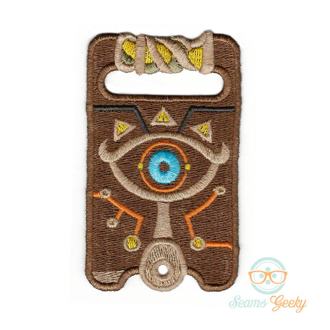 Legend of Zelda Patch - Sheikah Slate - Breath of the Wild - Embroidered Iron on Patch