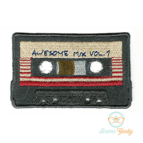 Guardians of the Galaxy Patch - Awesome Mix Vol 1 - Embroidered Iron on Patch