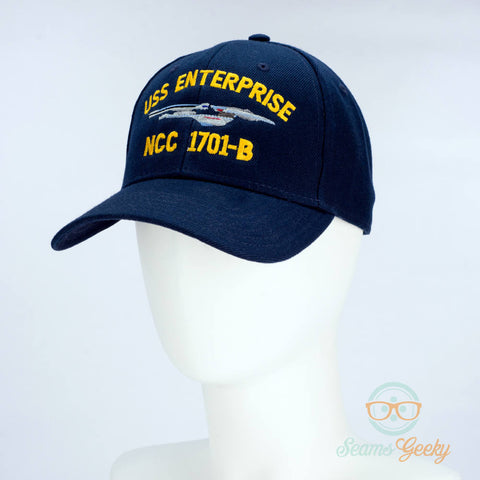 Star Trek Hat - USS Enterprise 1701-B - Embroidered Geeky Baseball Cap - Naval Hat Inspired