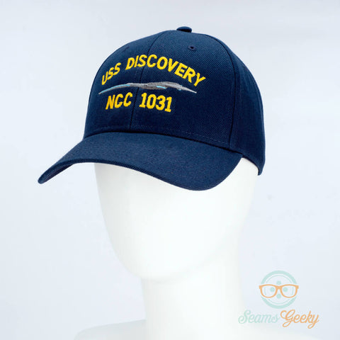 Star Trek Hat - Discovery - USS Discovery - Embroidered Baseball Cap - Naval Hat Inspired
