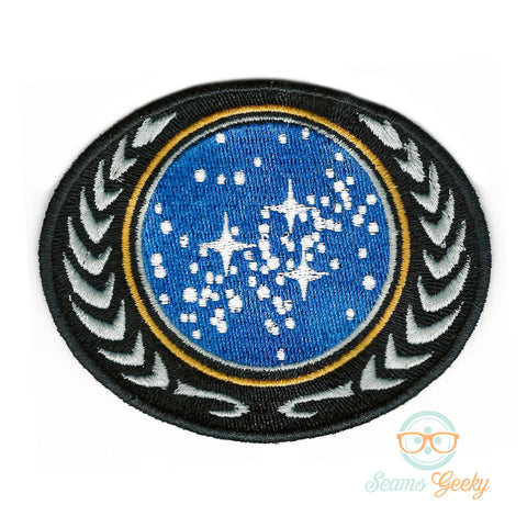 Star Trek Patch - United Federation of Planets - Geeky Embroidered Iron on Patch or Applique