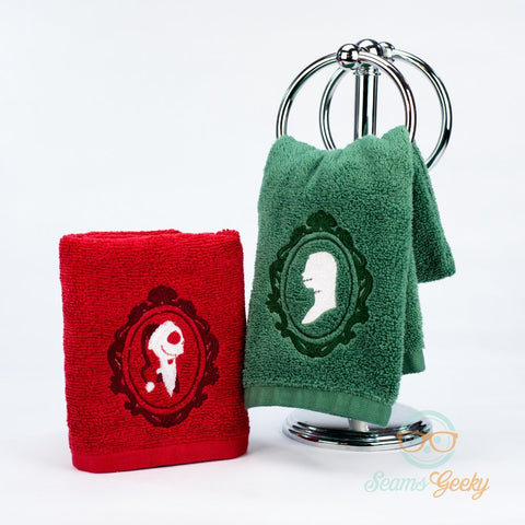 Nightmare Before Christmas Hand Towel Set - His and Hers - Jack Skellington & Sally Christmas Set